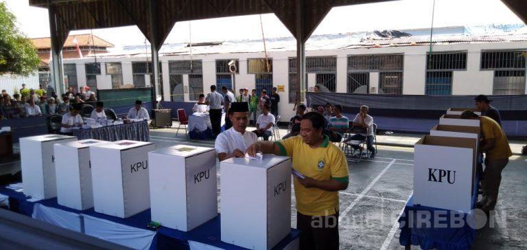 Warga Binaan LP Kelas 1 Kota Cirebon Ikut Ramaikan Pemilu Serentak 2019