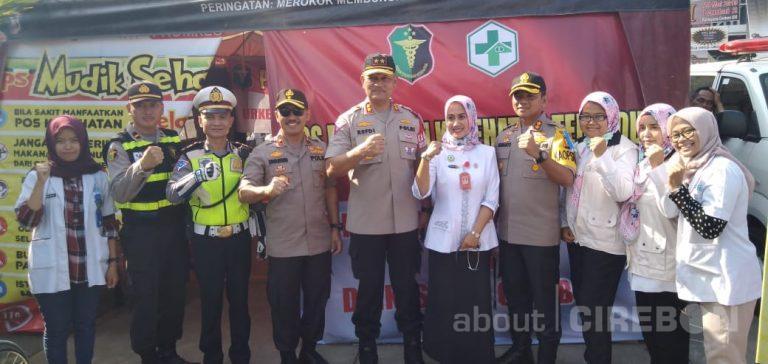 Tinjau Pos Terpadu Polres Cirebon, Kakorlantas Polri Sempatkan Cek Kesehatan