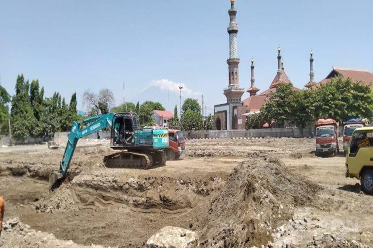 Revitalisasi Alun-alun Kejaksan Kota Cirebon Mulai Tahap Pengerjaan Basement