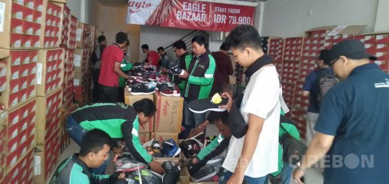 Grab Cirebon Hadirkan Bazar Sepatu Murah Eagle Untuk Mitra