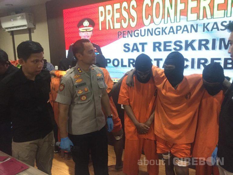 Satreskrim Polresta Cirebon Amankan 7 Tersangka Pembobolan 14 Mini Market