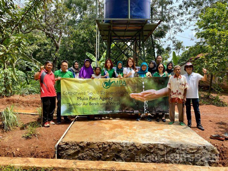 Manulife Cirebon Gelar Program CSR Penyediaan Sumber Air Bersih