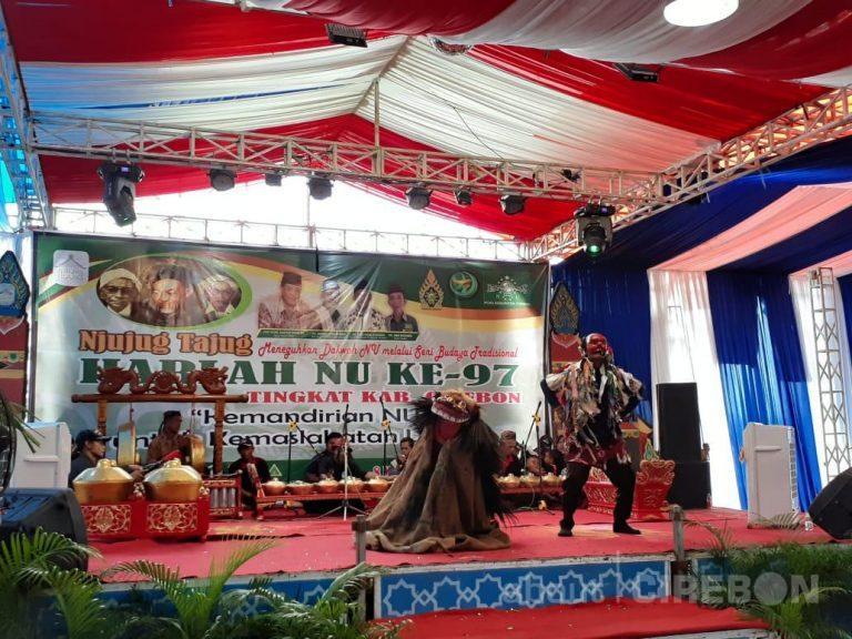 Berbagai Kesenian Khas Cirebon Meriahkan Harlah NU ke-97 di Cirebon