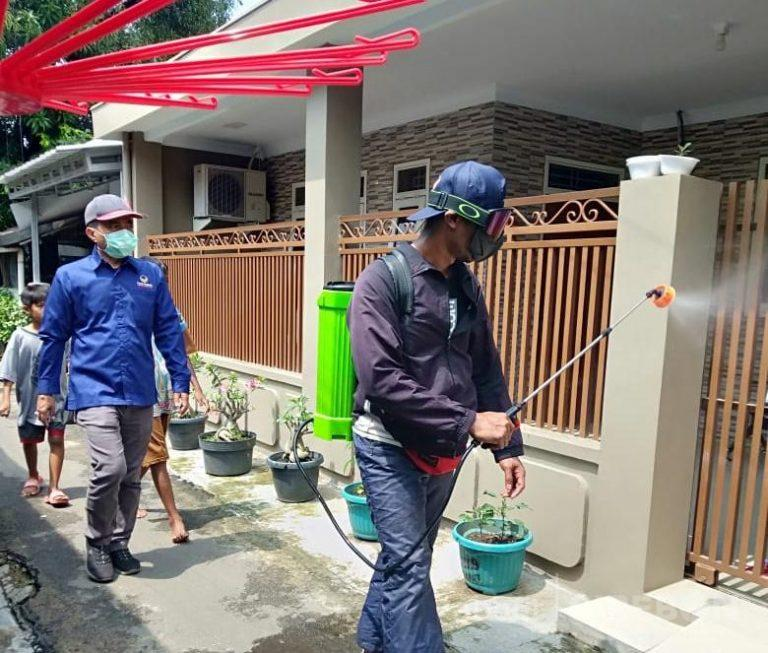 Cegah Corona, DPD Nasdem Kota Cirebon Gandeng OKP Lakukan Penyemprotan Disinfektan