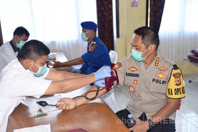 Persediaan Darah di PMI Kabupaten Cirebon Habis, Polresta Cirebon Gelar Donor Darah