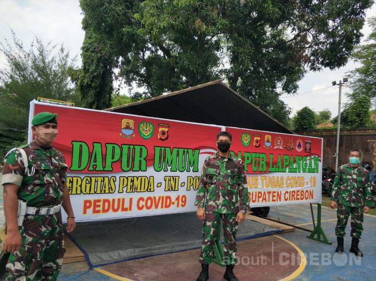 Dukung Gerakan Nasi Bungkus, Kodim 0620 Kabupaten Cirebon Dirikan Dapur Umum