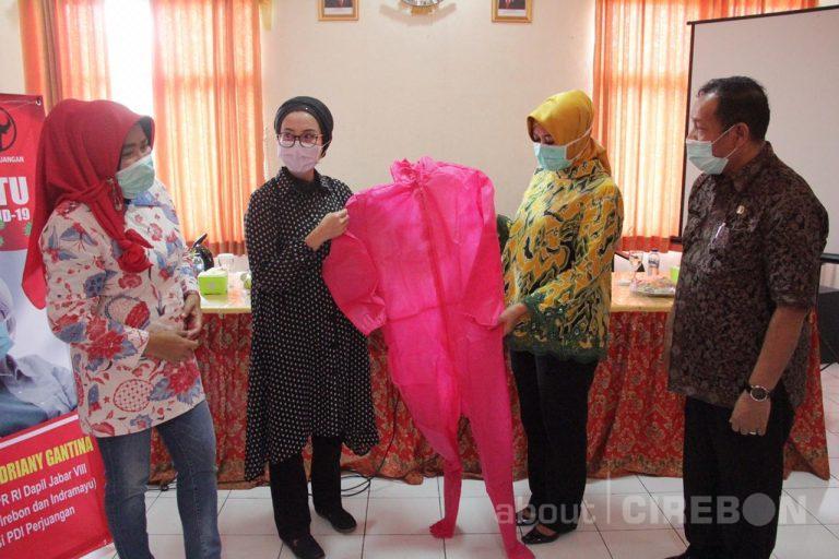 Anggota Komisi VIII DPR RI, Selly Andriany Gantina Serahkan Bantuan Ratusan APD untuk Dinkes Kabupaten Cirebon