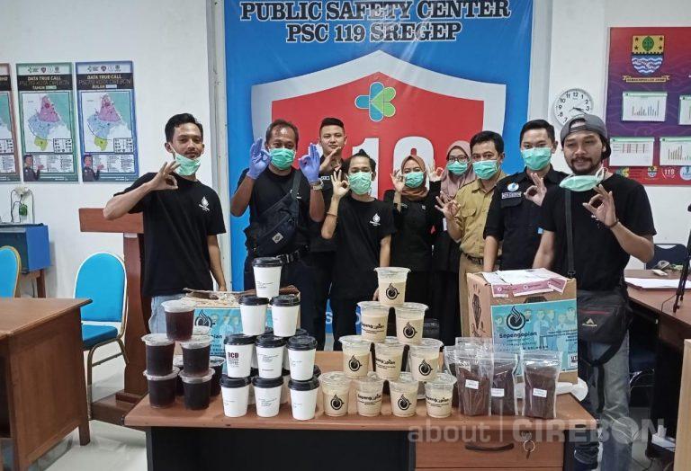 Komunitas Sepengopian Cirebon Berikan Ratusan Cup Kopi Untuk Relawan dan Tenaga Medis