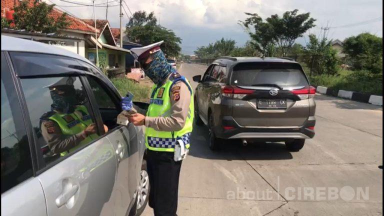 Satlantas Polresta Cirebon Lakukan Penyekatan di Lima Titik, Kendaraan Harus Putar Balik