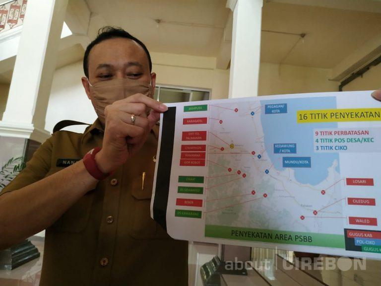 Pemkab Cirebon Lakukan Penyekatan di 16 Titik Selama PSBB