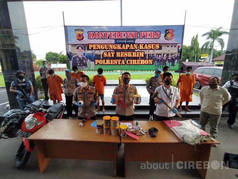 Polresta Cirebon Berhasil Amankan Jaringan Pelaku Spesialis Pembobol Minimarket