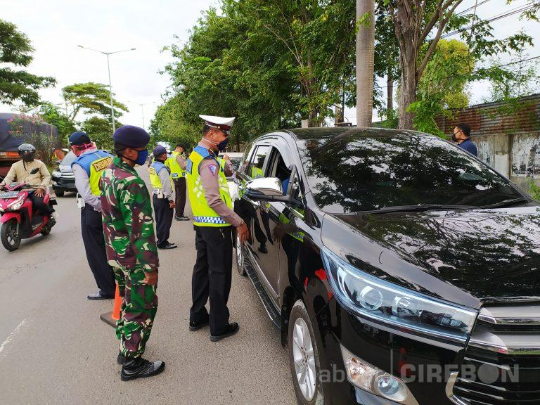 Check Point Lemahwungkuk Polres Cirebon Kota Kembali Lakukan Penyekatan