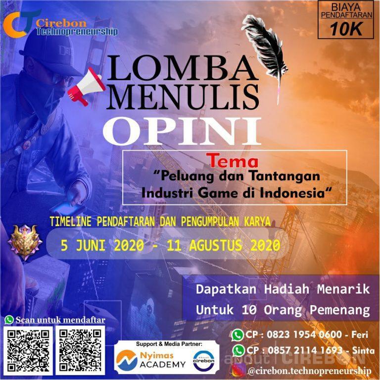 Cirebon Technopreneurship Gelar Lomba Menulis Opini