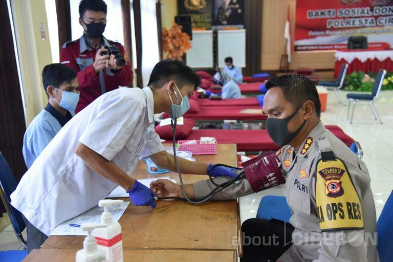 Sambut Hari Bhayangkara ke – 74, Polresta Cirebon Gelar Donor Darah