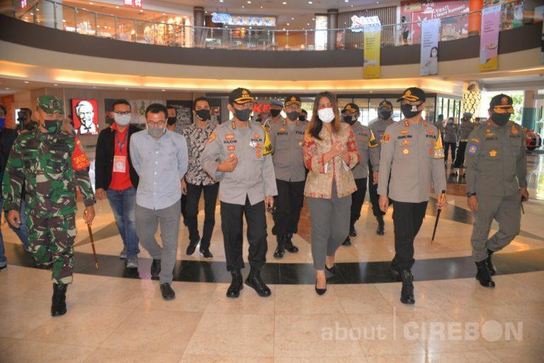 Hadapi Pelaksanaan AKB, Tim Polda Jawa Barat Kunjung Grage Mall Cirebon
