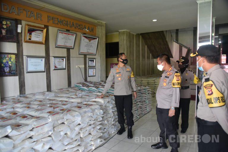 Polresta Cirebon Kembali Salurkan 10 Ton Beras Untuk Masyarakat Terdampak Covid-19