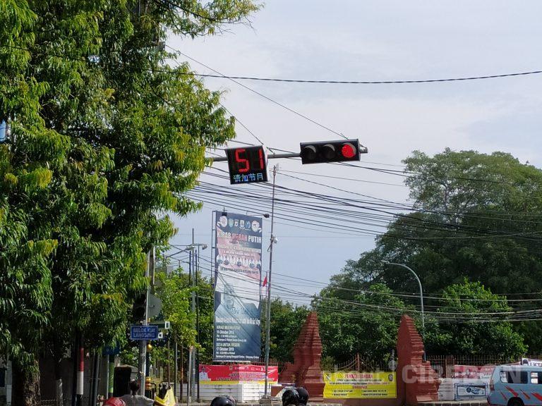 Running Text Lampu Merah Veteran Kota Cirebon Kena Hack