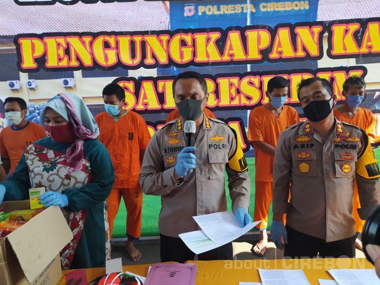 Satreskrim Polresta Cirebon Amankan Pelaku Pembobolan Apotek