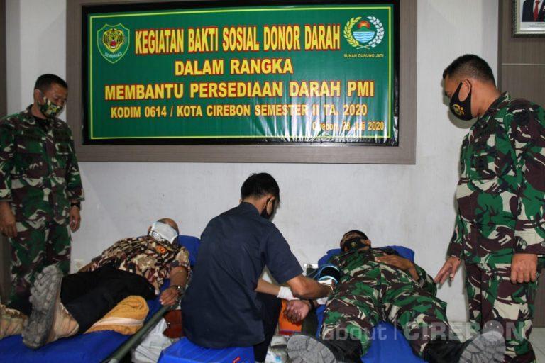 Bantu Persediaan Stok Darah di PMI, Kodim 0614 Kota Cirebon Gelar Donor Darah