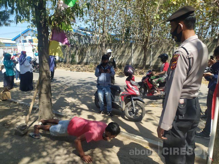 Petugas Gabungan di Kabupaten Cirebon Kembali Lakukan Razia Masker