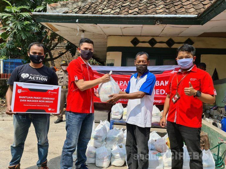 HUT RI ke 75, Telkomsel Area Jabotabek Jabar Bagikan 1.900 Paket Sembako