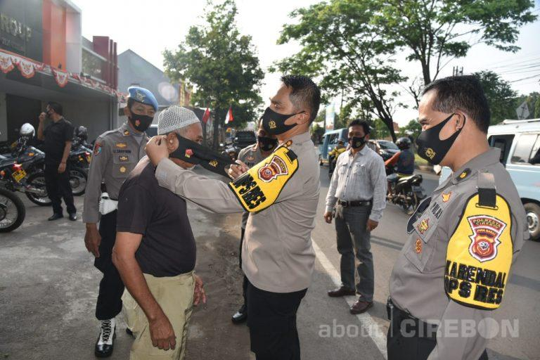 Polresta Cirebon Terus Edukasi Masyarakat Terkait Pemakaian Masker