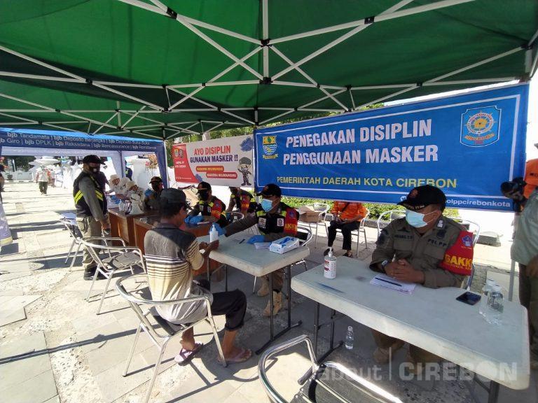 Petugas Gabungan di Kota Cirebon Kembali Gelar Operasi Penegakan Protokol Kesehatan