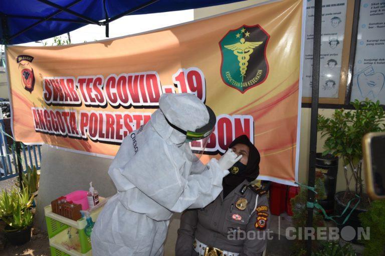 Langkah Preventif, Polresta Cirebon Lakukan Pemeriksaan Swab Mandiri
