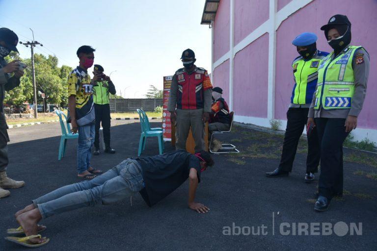 148 Terjaring Razia Masker di Kabupaten Cirebon Didominasi Pengendara Sepeda Motor