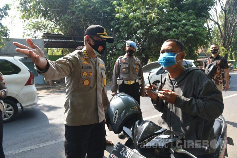 Sepekan Razia Masker, Petugas Gabungan di Kabupaten Cirebon Menjaring Puluhan Ribu Pelanggar