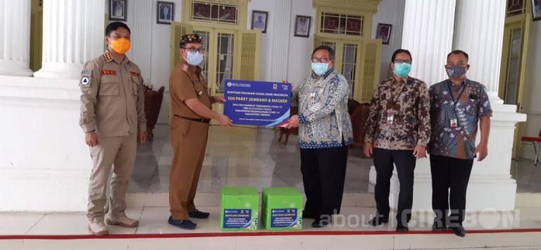 Bank Indonesia Cirebon Serahkan Bantuan Sembako dan Masker Untuk Pemkab Cirebon