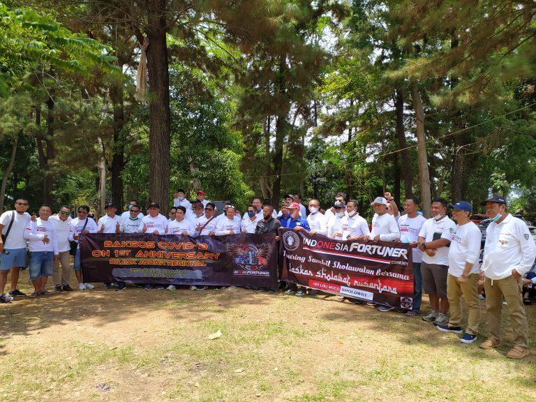 Indonesia Fortuner Community Gelar Bakti Sosial di Objek Wisata Telaga Biru