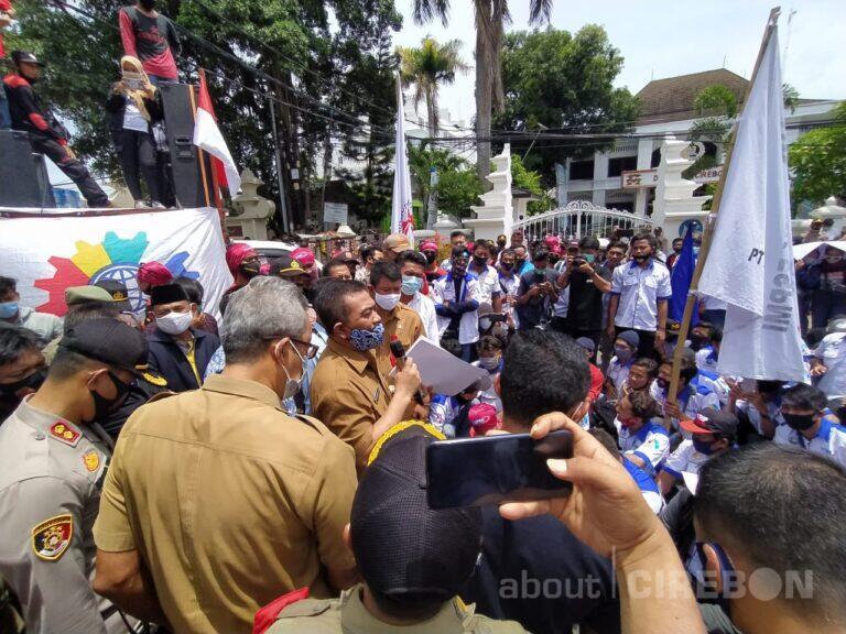 FSPMI Cirebon Raya Gelar Aksi Unjuk Rasa , ini Tuntutannya