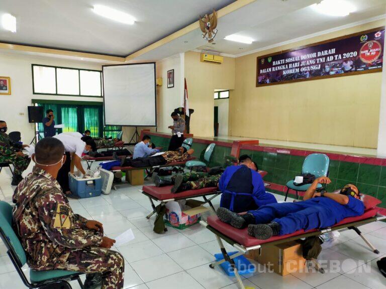 Bantu Persediaan Darah di PMI, Korem 063/SGJ Gelar Donor Darah