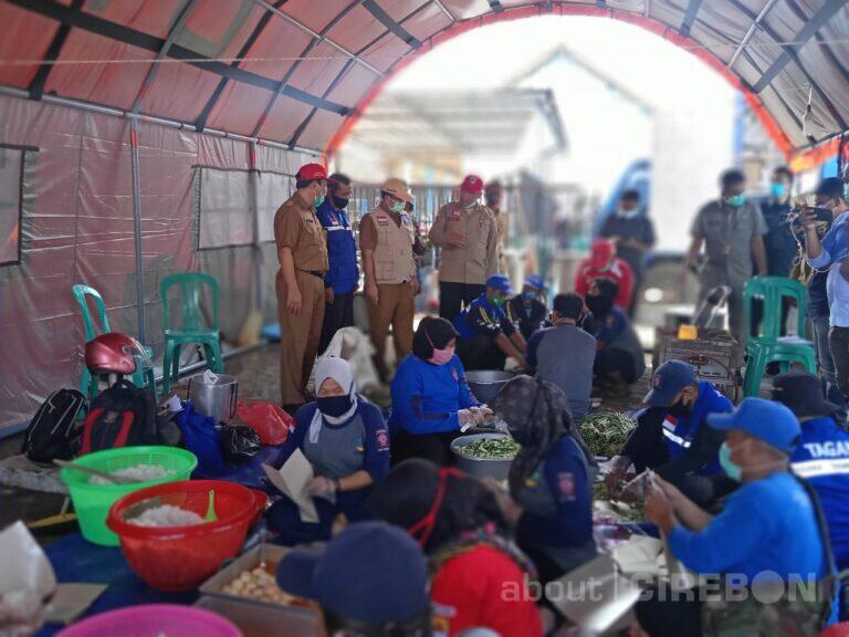 Dinas Sosial Kabupaten Cirebon Dirikan Dapur Umum di Desa Slangit