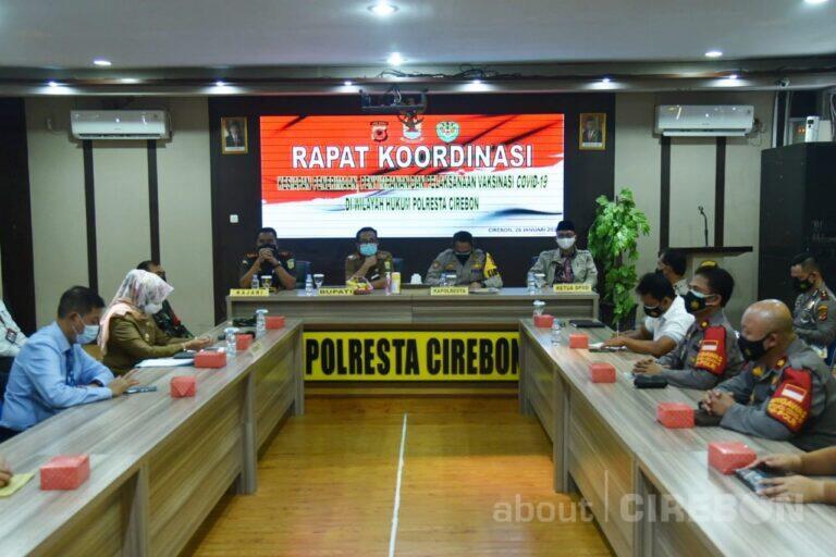 300 Personil Polresta Cirebon Siap Amankan Pelaksanaan Vaksinasi Covid-19