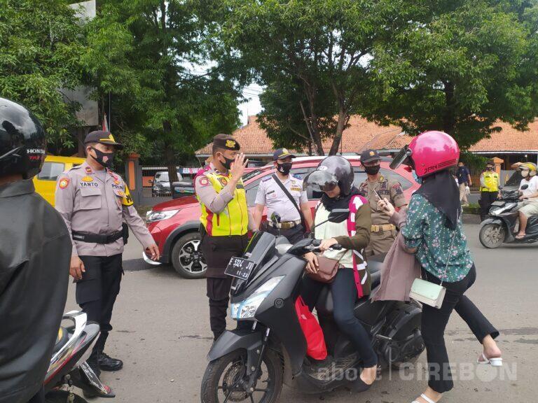 PPKM di Kabupaten Cirebon, Petugas Gabungan Gelar Razia Masker
