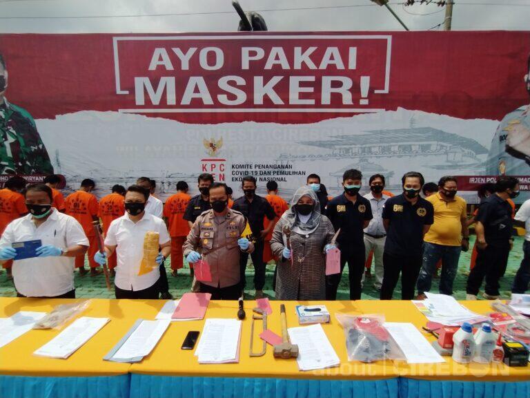 Selama Januari 2021, Satreskrim Polresta Cirebon Ungkap 10 Kasus Tindak Pidana