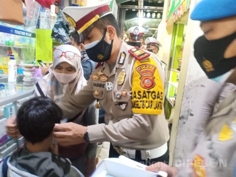 Cegah Penyebaran Covid-19, Ini yang Dilakukan Sat Lantas Polres Cirebon Kota