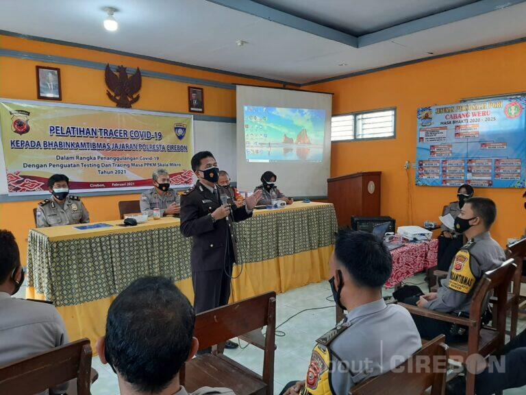Bhabinkamtibmas Polresta Cirebon Dilatih Jadi Tracer Covid-19