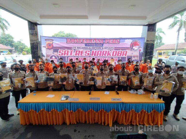 Selama Tiga Bulan, Satnarkoba Polresta Cirebon Ungkap 27 Kasus Narkotika