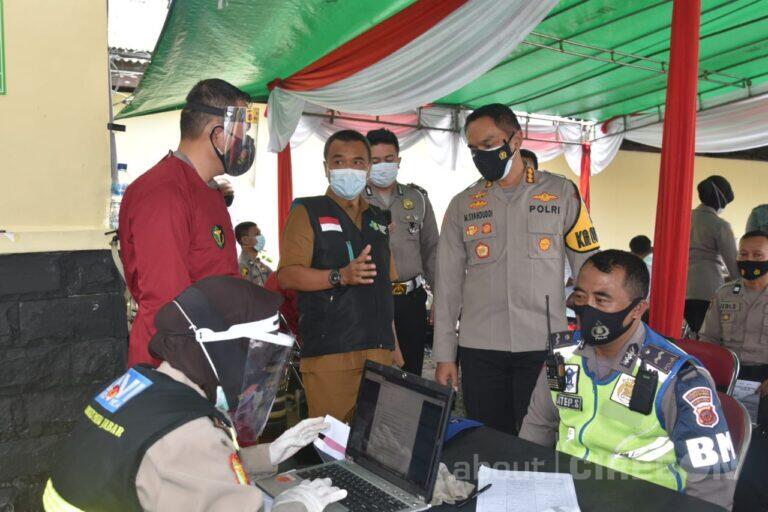 1440 Personel Polresta Cirebon Jalani Vaksinasi Covid-19