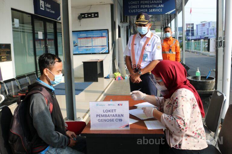 Hari Pertama Layanan GeNose C19 di Stasiun Cirebon Prujakan Capai 101 Orang