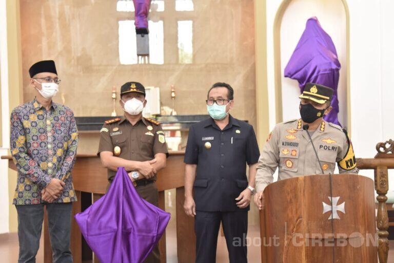 Pastikan Ibadah Jumat Agung Kondusif, Kapolresta Cirebon Monitoring Gereja Bersama Forkopimda