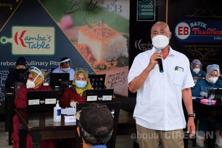 EB Batik Traditional Cirebon, Showroom Batik Pertama Jalani Vaksin Covid-19