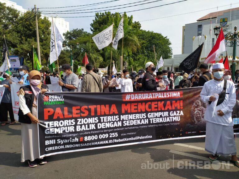 Warga Ciayumajakuning Gelar Aksi Damai Bela Palestina