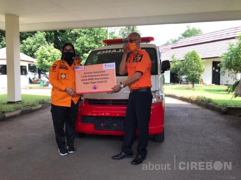 Kota Cirebon Terima Ambulance Hasil Donasi Konsumen Minimarket