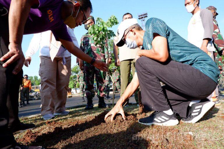 Hari Lingkungan Hidup Sedunia, Kawasan Bima Kota Cirebon Ditanam Pohon