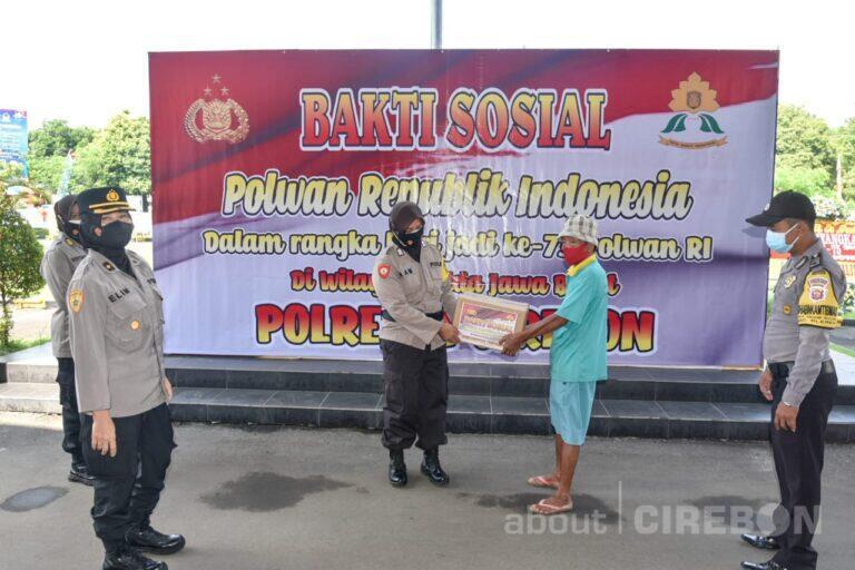Peringati Hari Jadi ke-73 Polwan, Polresta Cirebon Salurkan Ratusan Paket Baksos