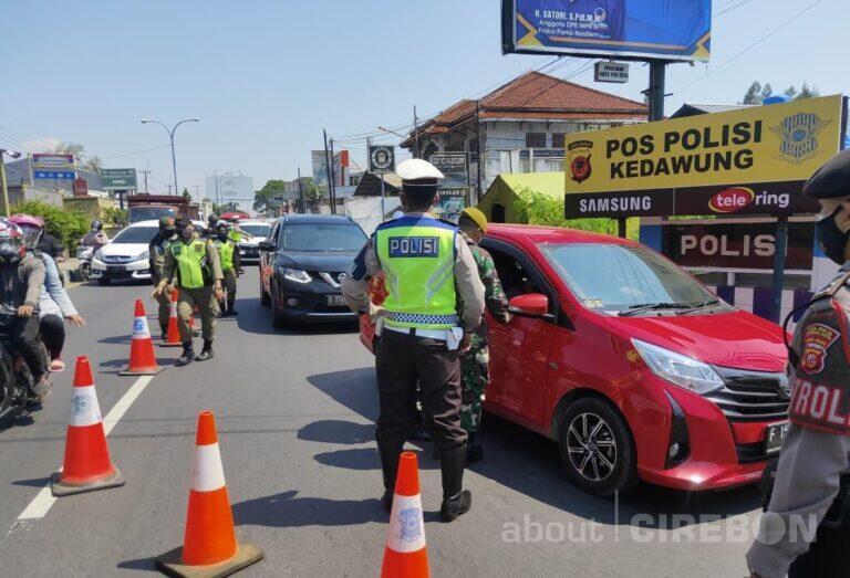 Hari Pertama PPKM Darurat di Kota Cirebon, Petugas Lakukan Penyekatan
